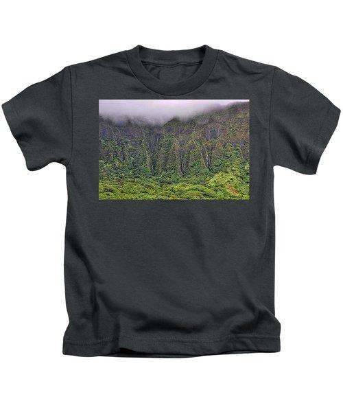 Ko'olau Waterfalls Kids T-Shirt