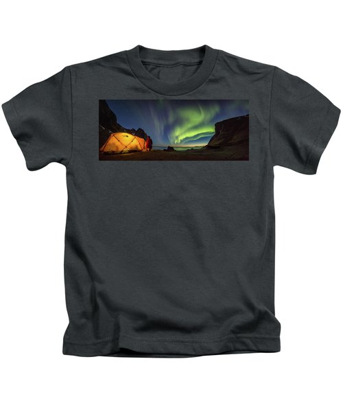 Kvalvika Under The Lights Kids T-Shirt