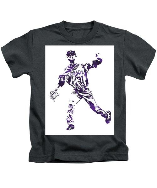 Kyle Freeland Colorado Rockies Pixel Art 2 Kids T-Shirt