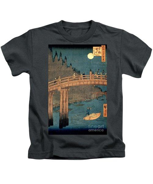 Kyoto Bridge By Moonlight Kids T-Shirt