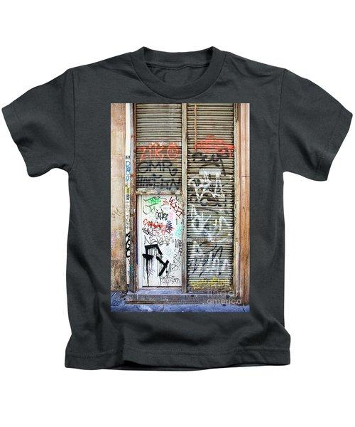 La Rambia Spain Graffiti I Kids T-Shirt
