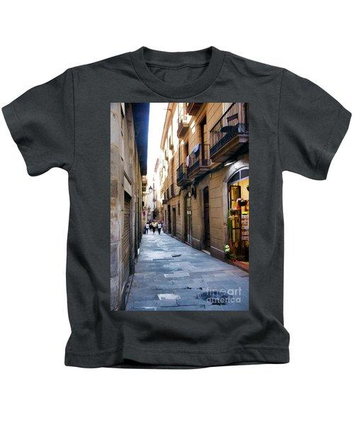 La Rambia Streets Color Kids T-Shirt