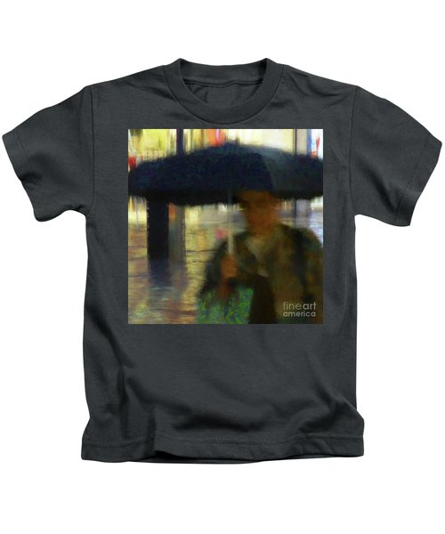 Lady With Umbrella Kids T-Shirt