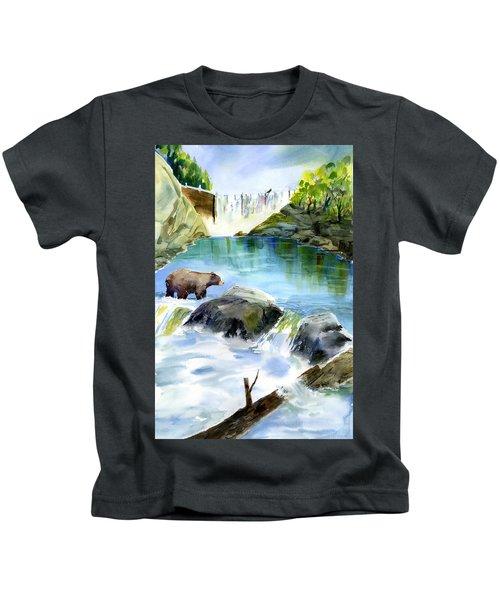 Lake Clementine Falls Bear Kids T-Shirt
