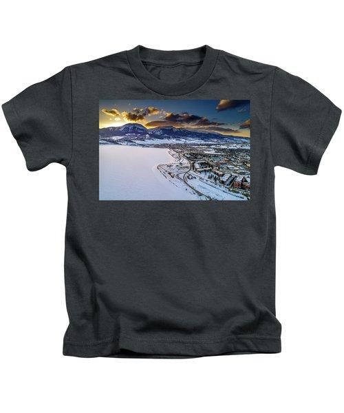 Lake Dillon Sunset Kids T-Shirt