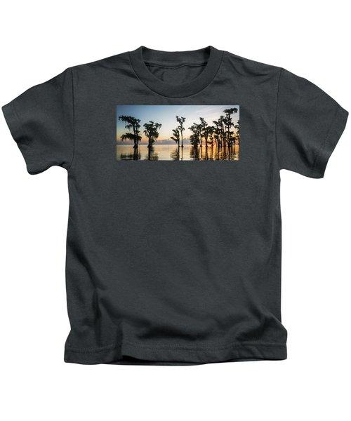 Lake Maurepas Sunrise Kids T-Shirt