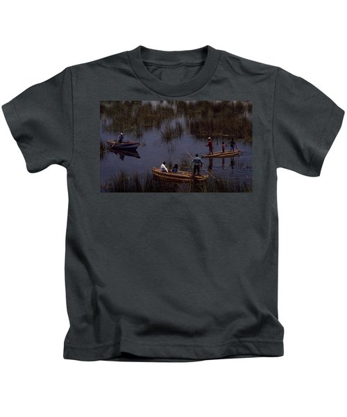 Lake Titicaca Reed Boats Kids T-Shirt