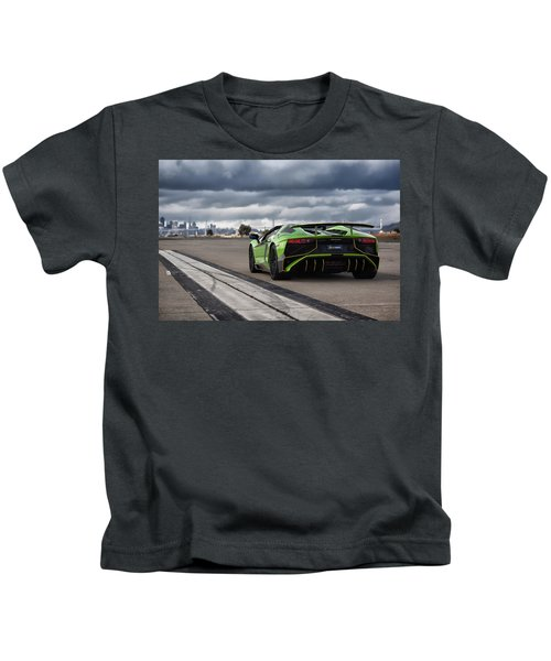 #lamborghini #aventadorsv #superveloce #roadster Kids T-Shirt