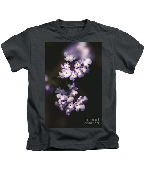 Lantana Montevidensis Fine Art Flower Photo Kids T-Shirt