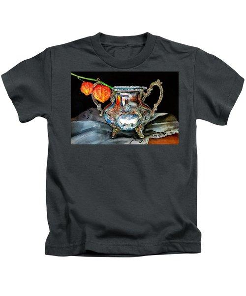 Lanterns On Silver Kids T-Shirt