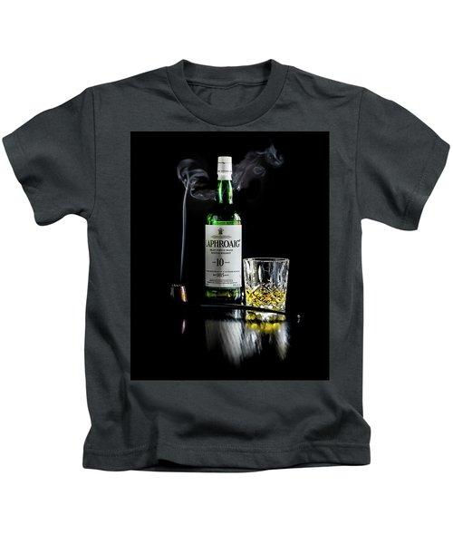 Whiskey And Smoke Kids T-Shirt