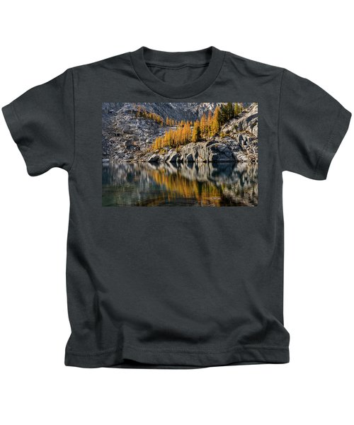 Larch Reflection In Enchantments Kids T-Shirt