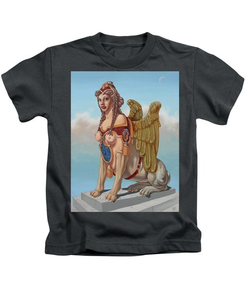 Large Sphinx Of The Vienna Belvedere Kids T-Shirt