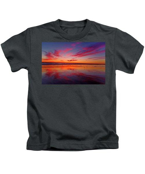 Last Light Topsail Beach Kids T-Shirt by Betsy Knapp