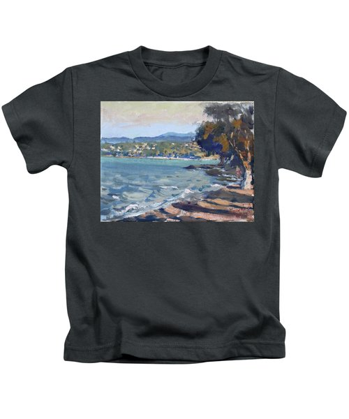 Late Afternoon At Dilesi Beach Athens Kids T-Shirt