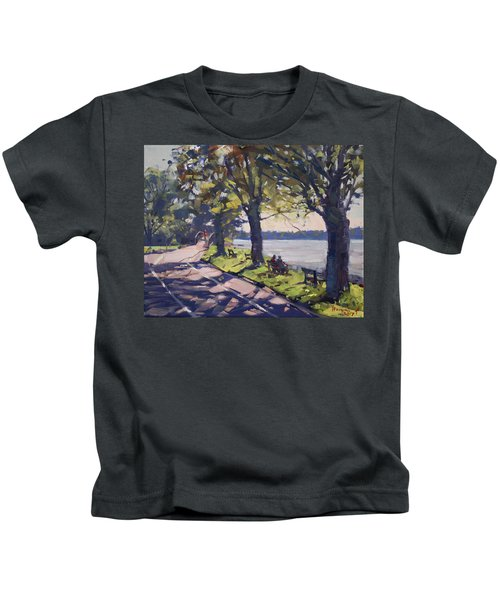 Late Afternoon At Niawanda Park Kids T-Shirt
