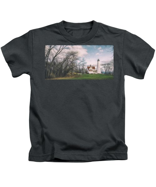 Late Afternoon At The Lighthouse Kids T-Shirt by Scott Norris