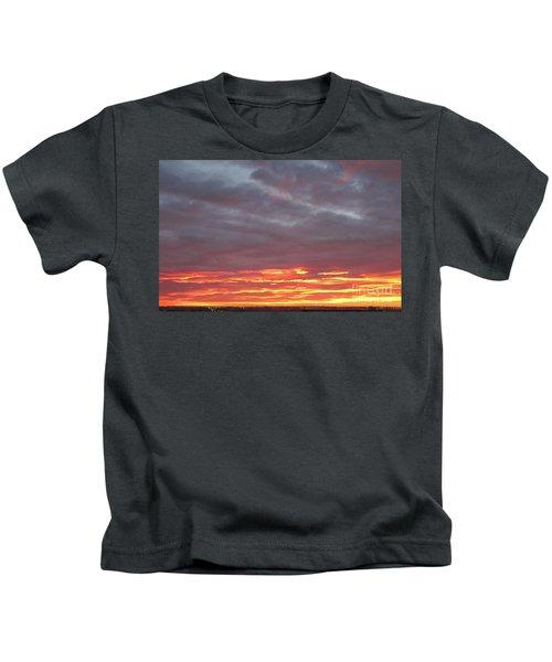 Late Prairie Sunrise Kids T-Shirt