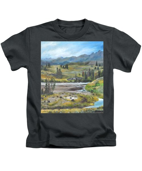 Late Summer In Yellowstone Kids T-Shirt