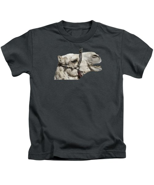 Laughing Camel Kids T-Shirt by Roy Pedersen