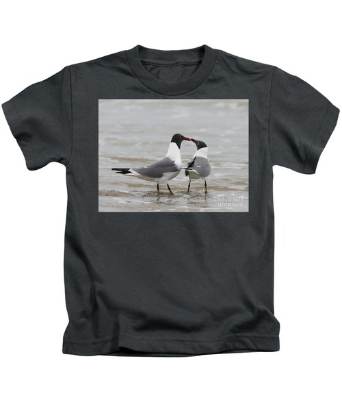 Laughing Gulls In Love Kids T-Shirt