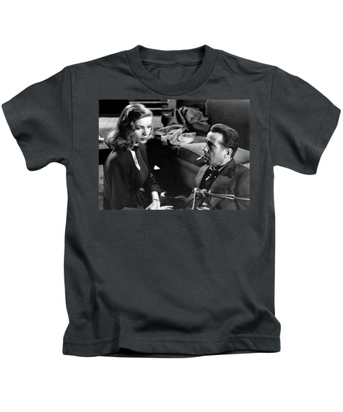 Lauren Bacall Humphrey Bogart Film Noir Classic The Big Sleep 1 1945-2015 Kids T-Shirt