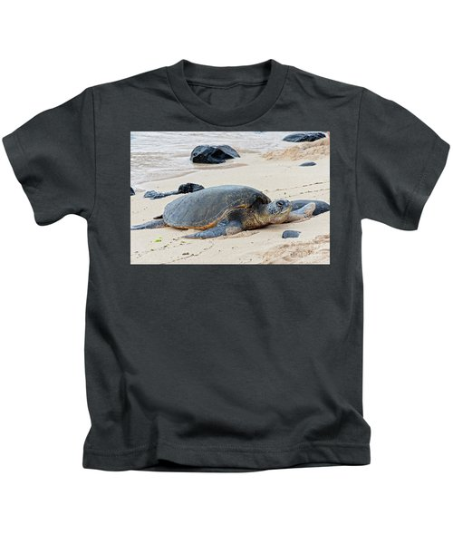 Lazy Day At The Beach Kids T-Shirt