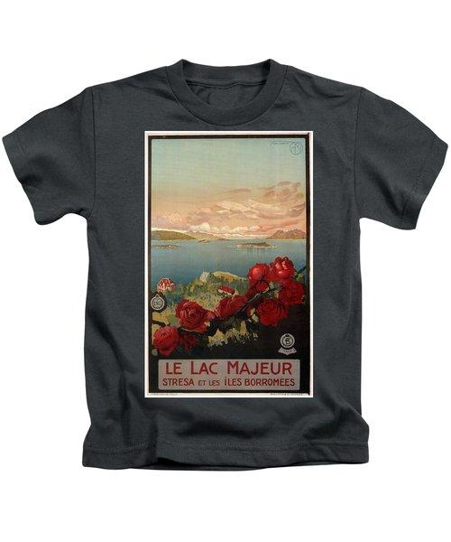 Le Lac Majeur - Stresa Et Les Iles Borromees - Retro Travel Poster - Vintage Poster Kids T-Shirt