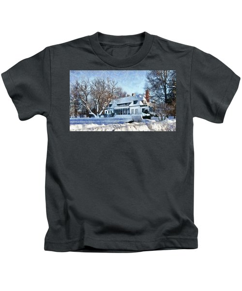 Leacock Museum In Winter Kids T-Shirt