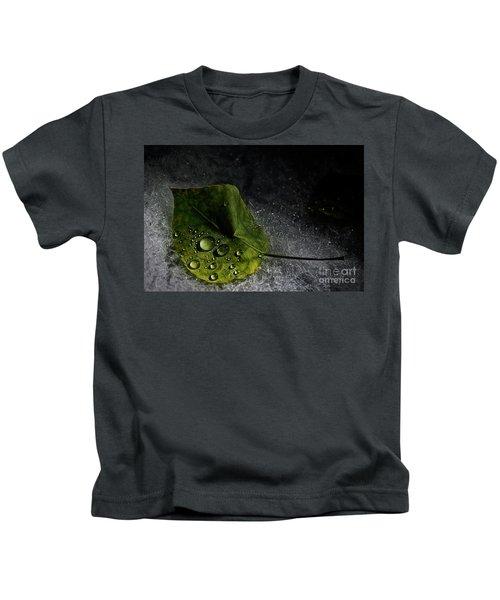 Leaf Droplets Kids T-Shirt