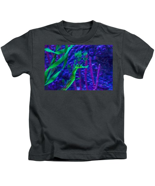 Kids T-Shirt featuring the photograph Leafy Sea Horse by Susan Molnar