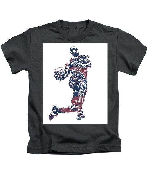 9e2c49f9e36c Lebron James Cleveland Cavaliers Pixel Art 52 Kids T-Shirt
