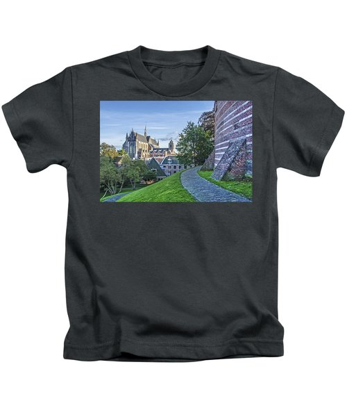 Leiden, The Church And The Castle Kids T-Shirt