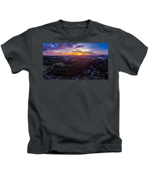 Lenoir North Carolina  Sunset Kids T-Shirt