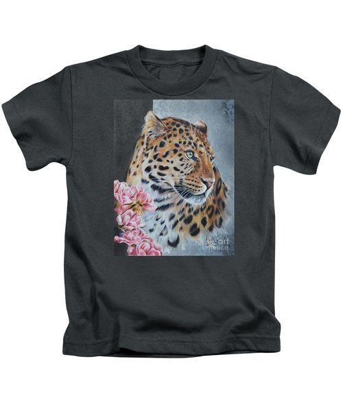 Leopard And Roses Kids T-Shirt