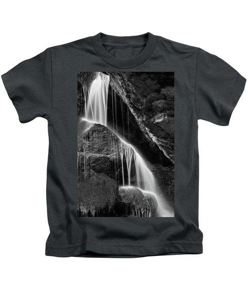 Lichtenhain Waterfall - Bw Version Kids T-Shirt