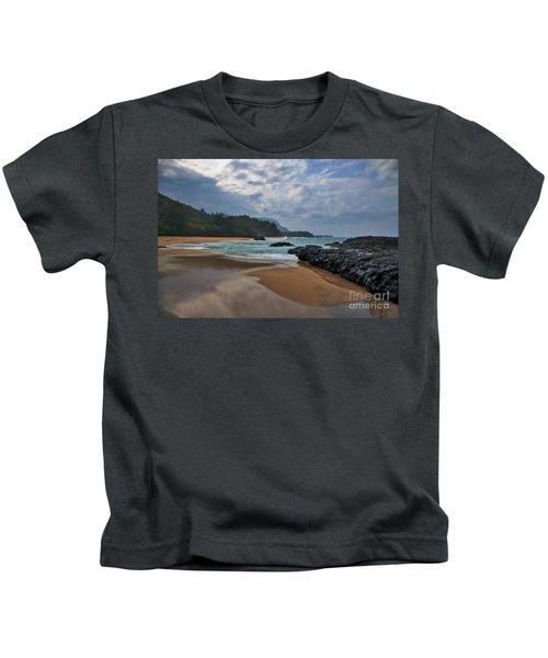 Kids T-Shirt featuring the photograph Life Is A Beach And Then You Die? Lumahai Beach, Kauai, Hawaii by Sam Antonio Photography