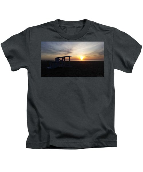 Lifeguard Stand And Sunrise Kids T-Shirt