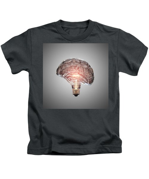 Light Bulb Brain Kids T-Shirt