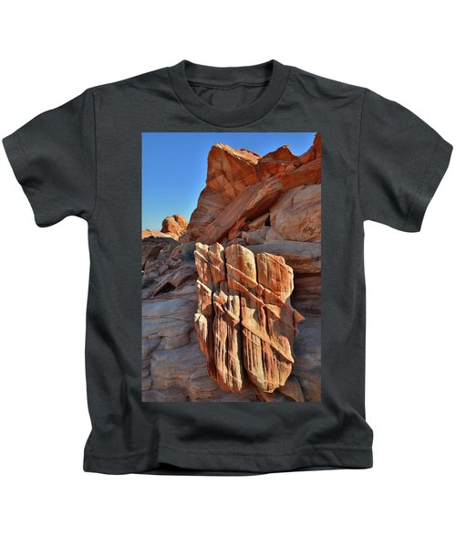 Light Creeps In At Valley Of Fire State Park Kids T-Shirt