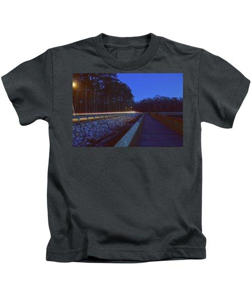 Light Trails On Elbow Road Kids T-Shirt