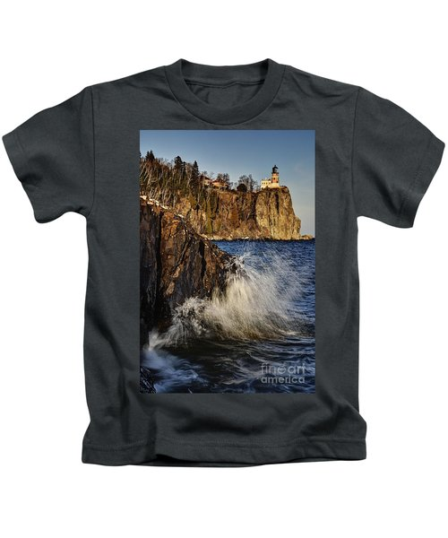 Lighthouse And Spray Kids T-Shirt