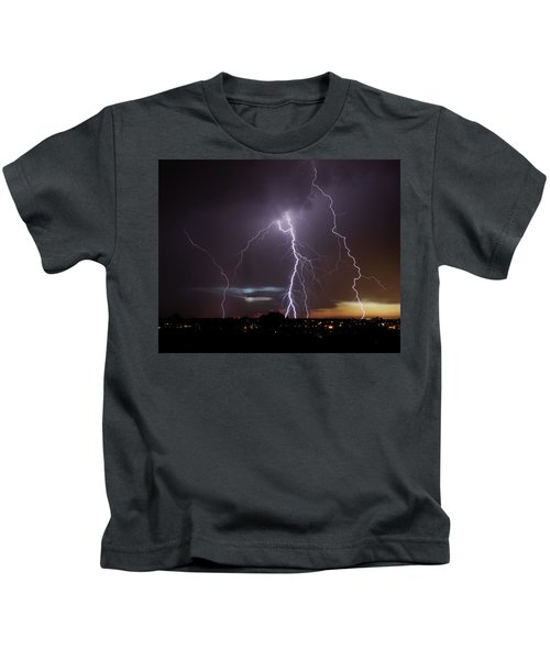 Lightning At Dusk Kids T-Shirt