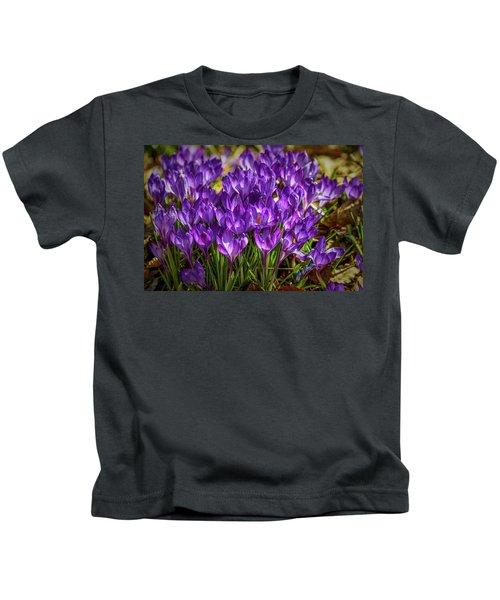 Lilac Crocus #g2 Kids T-Shirt
