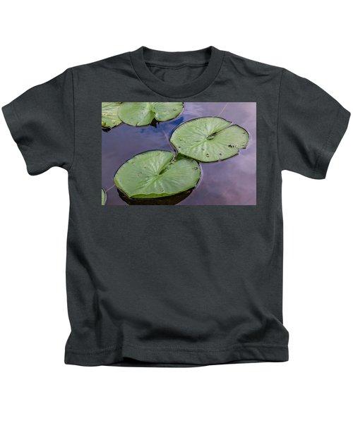 Lily Pad Reflections Kids T-Shirt