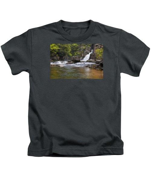 Linville Falls Basin Kids T-Shirt
