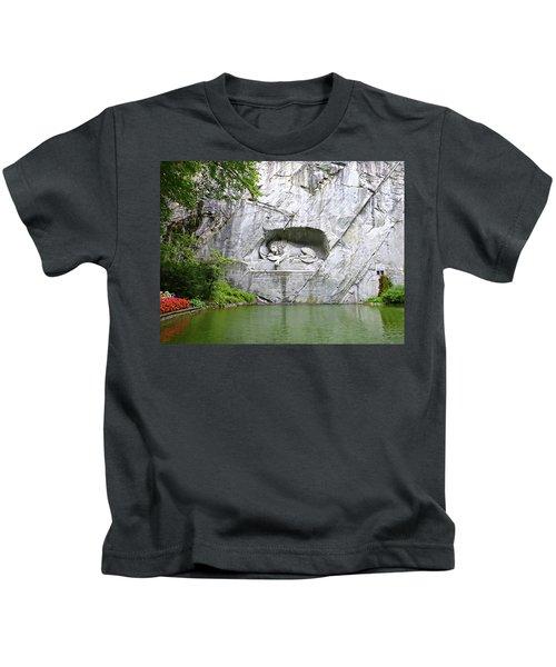 Lion Of Lucerne Kids T-Shirt