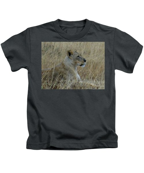 Lioness In The Grass Kids T-Shirt