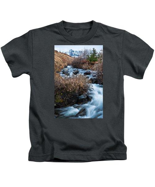 Liquid Winter Kids T-Shirt