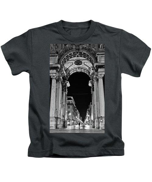 Lisbon - Portugal - Triumphal Arch - Rua Augusta Kids T-Shirt